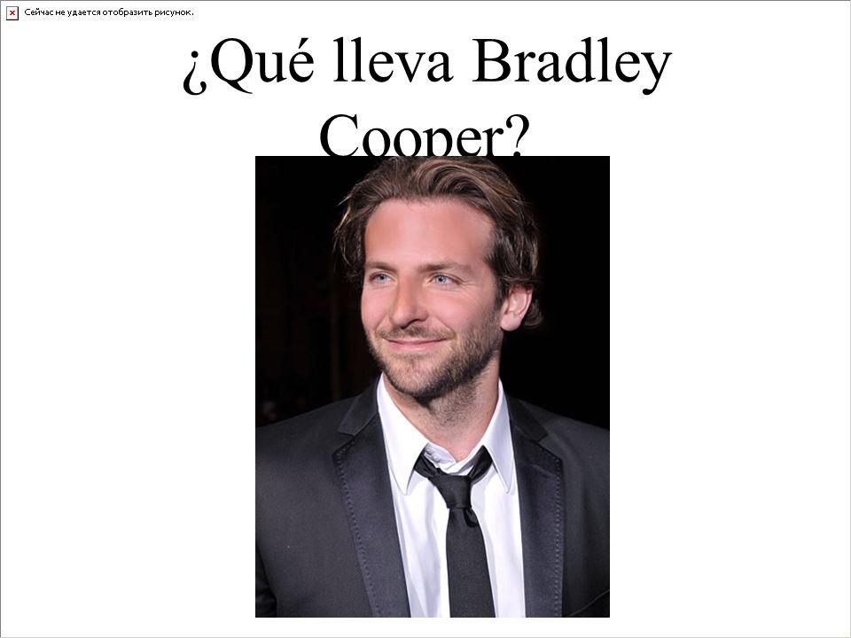 ¿Qué lleva Bradley Cooper?