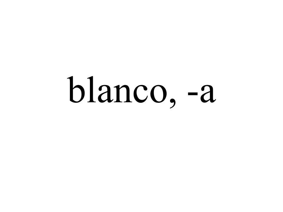 blanco, -a