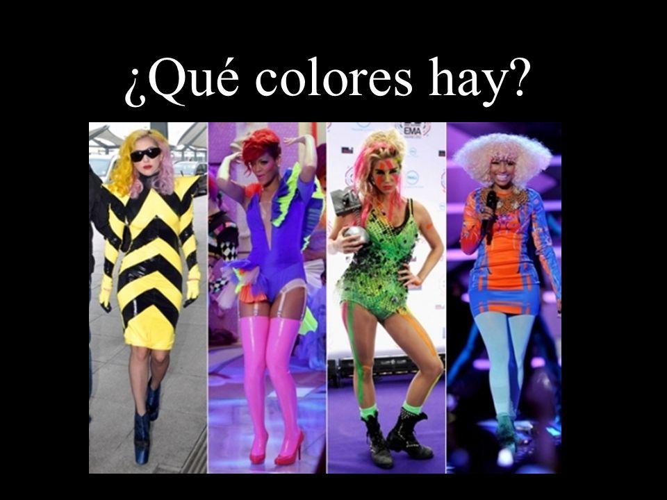 ¿Qué colores hay?