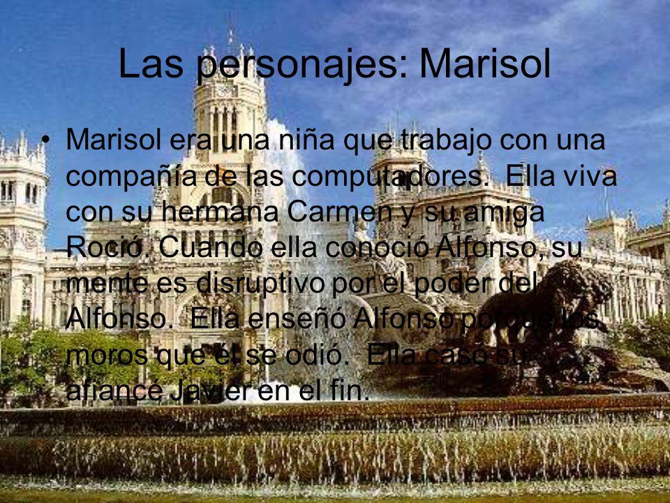 Las personajes: Alfonso Alfonso es un vampiro.