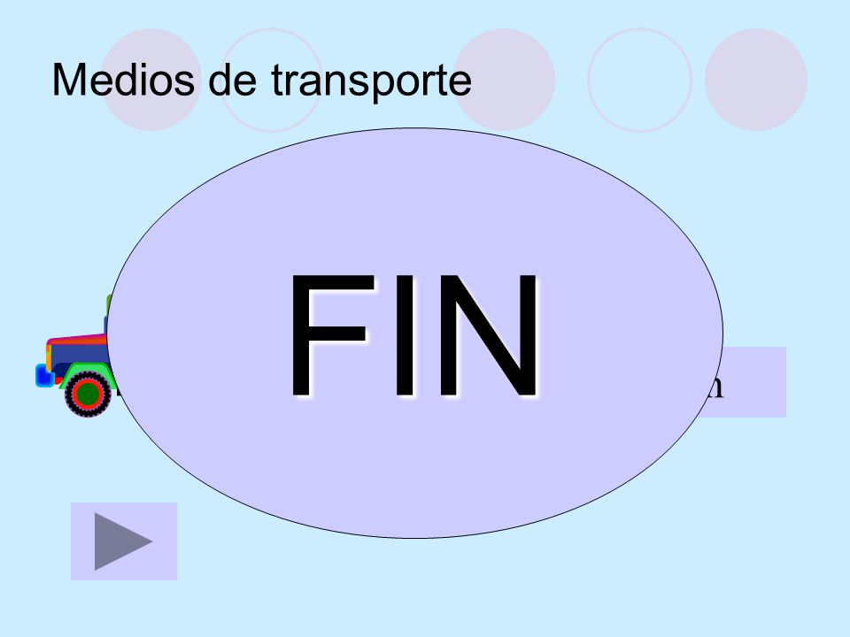 Medios de transporte el camión FIN