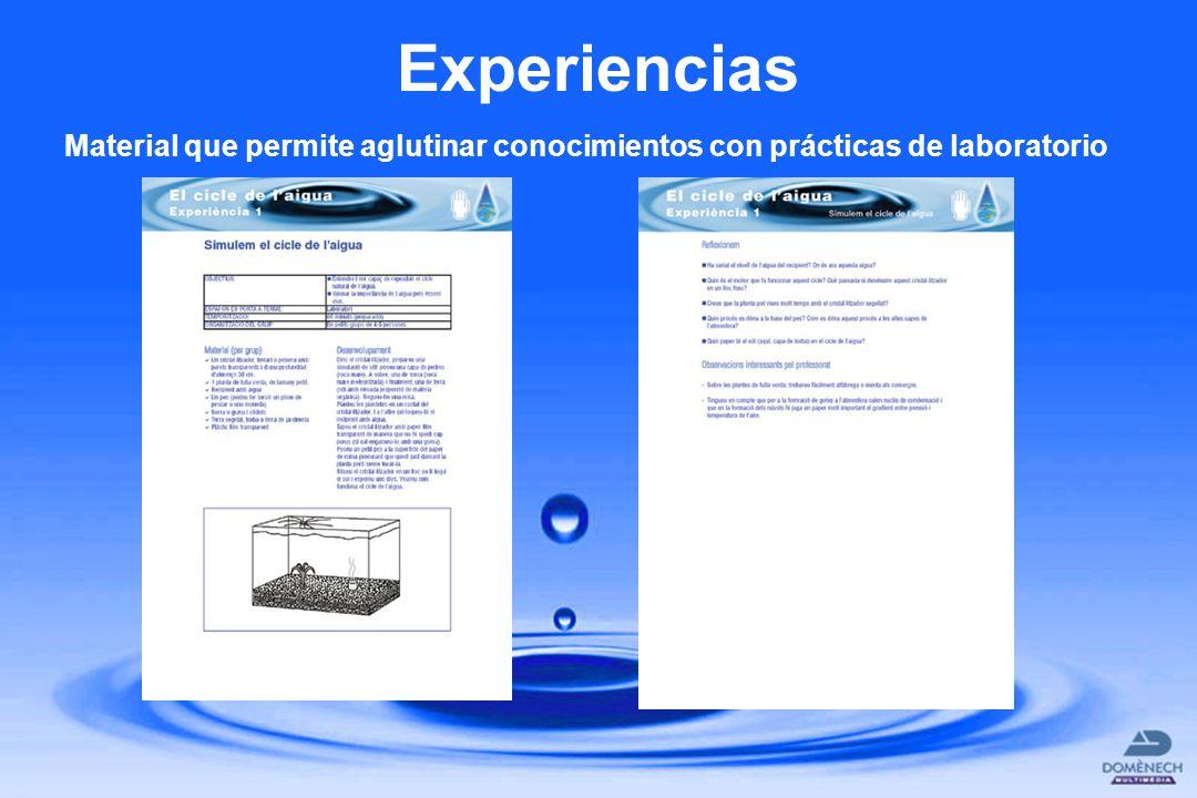 Experiencias Material que permite aglutinar conocimientos con prácticas de laboratorio