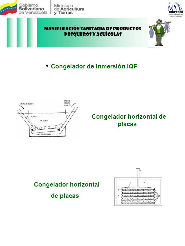 Congelador de inmersión IQF Congelador horizontal de placas Congelador horizontal de placas Manipulación Sanitaria de Productos Pesqueros y Acuícolas