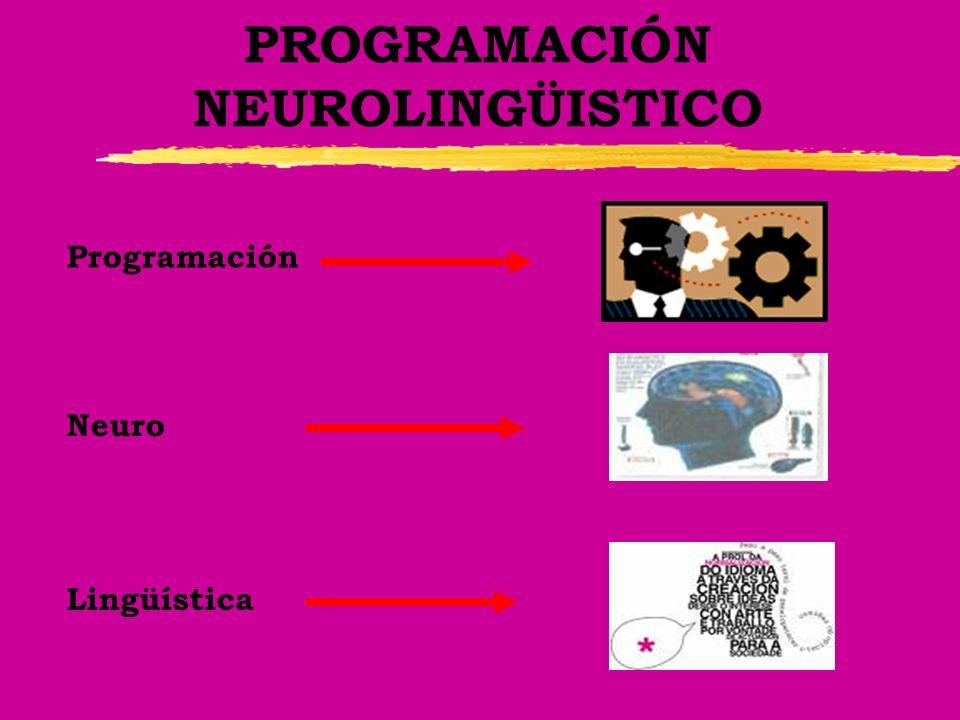 PROGRAMACIÓN NEUROLINGÜISTICO Programación Neuro Lingüística