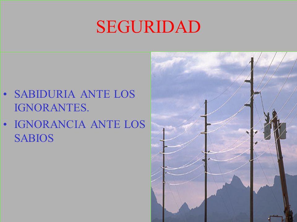 SEGURIDAD SABIDURIA ANTE LOS IGNORANTES. IGNORANCIA ANTE LOS SABIOS