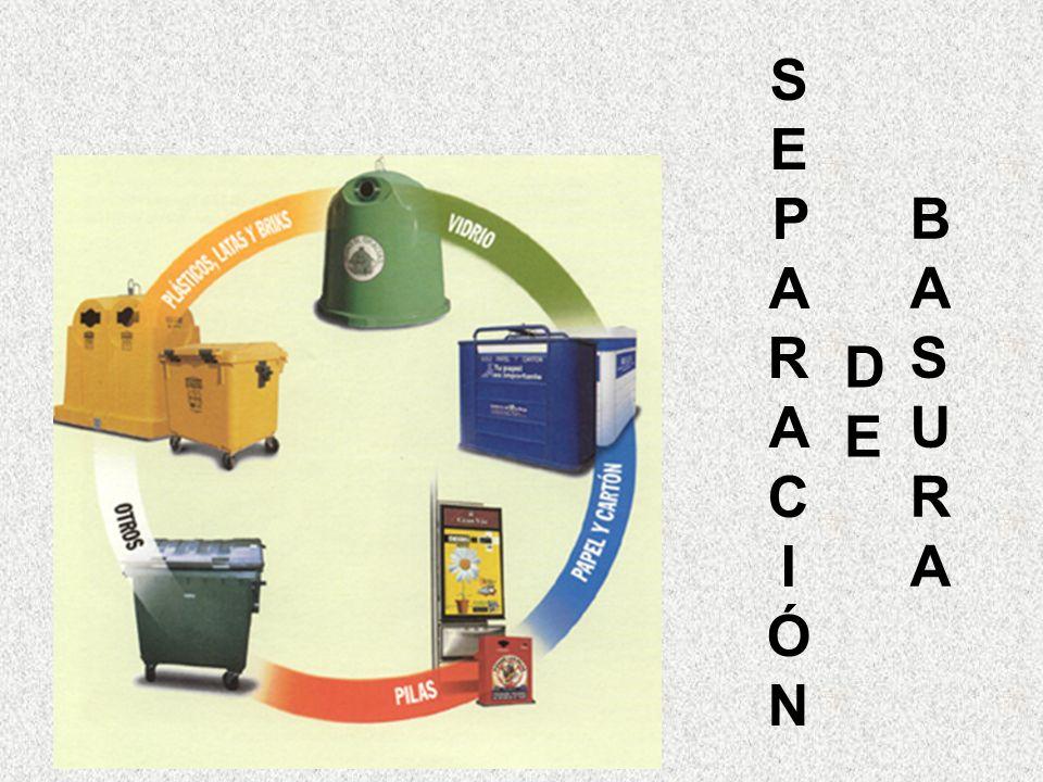Inorgánica Se colocan 5 rejillas, o bien, cajas de cartón o bolsas de plástico grandes.