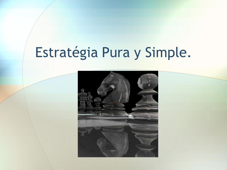 Estratégia Pura y Simple.