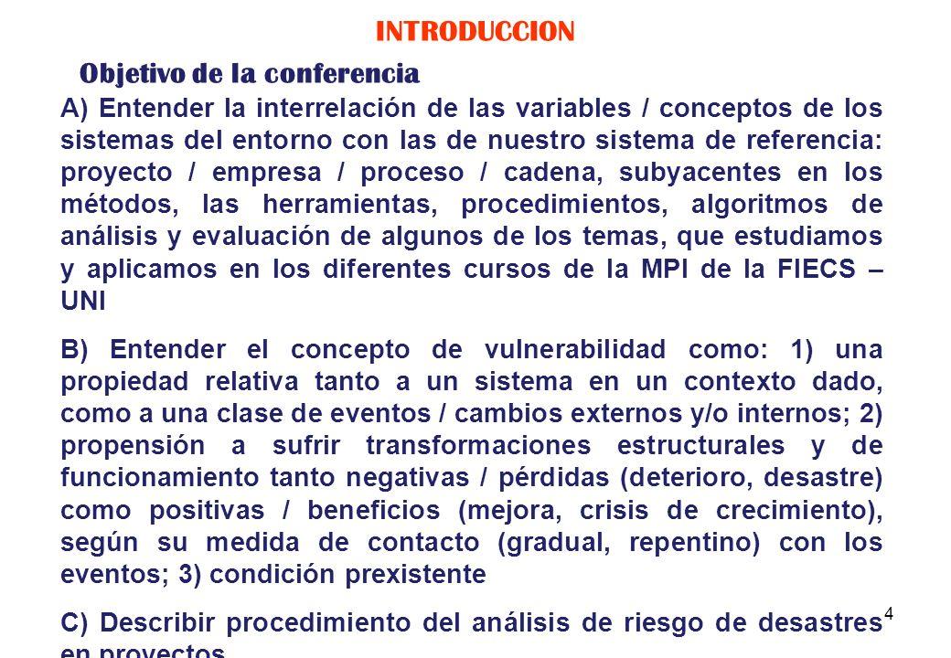 3 Manual para la evaluación del impacto socioeconómico y ambiental de los desastres, CEPAL, 2003 Pautas metodológicas para la incorporación del anális