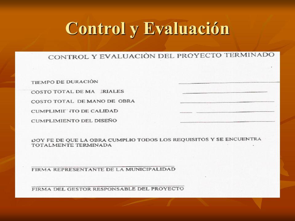 Control y Evaluación