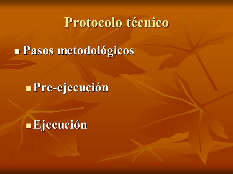 Pasos metodológicos Pasos metodológicos Pre-ejecución Pre-ejecución Ejecución Ejecución
