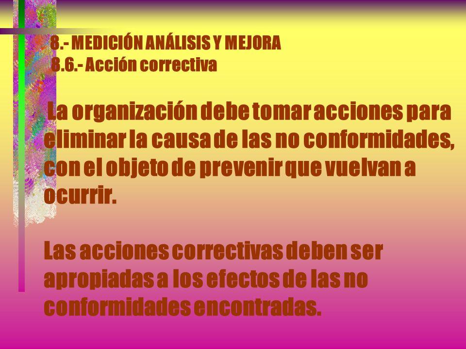 8.- MEDICIÓN ANÁLISIS Y MEJORA 8.4.- Análisis de datos El análisis de datos debe proporcionar información sobre: a) La satisfacción del cliente (véase