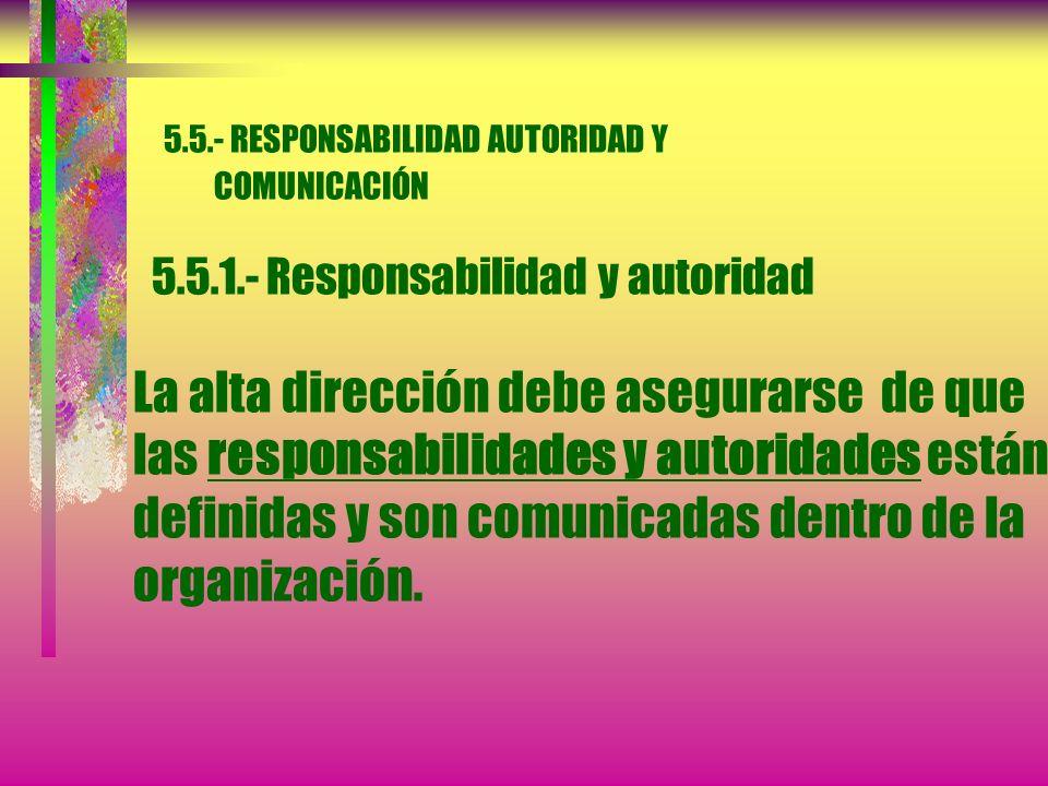 5.- RESPONSABILIDAD DE LA DIRECCIÓN 5.4.- Planificación 5.4.2.- Planificación del SGC La alta dirección debe asegurarse que: a) La planificación del S
