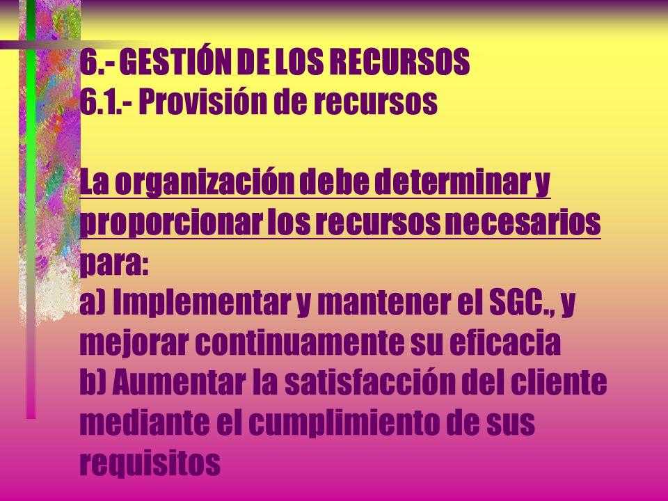 5.6.- REVISIÓN POR LA DIRECCIÓN 5.6.3.- Resultados de la revisión * Los resultados de la revisión por la dirección deben incluir todas las decisiones