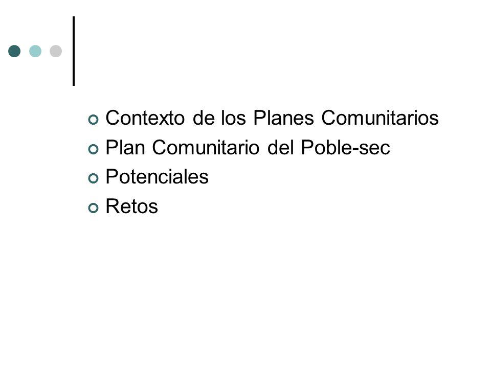 Marco normativo Plan General de Desarrollo Social, Económico y Comunitario (1997) Dirección General de Servicios Comunitarios Departamento de Bienestar Social de la Generalitat de Cataluña.