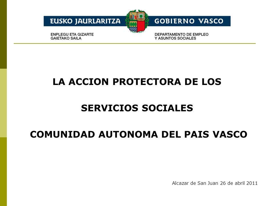 LA ACCION PROTECTORA DE LOS SERVICIOS SOCIALES COMUNIDAD AUTONOMA DEL PAIS VASCO Alcazar de San Juan 26 de abril 2011
