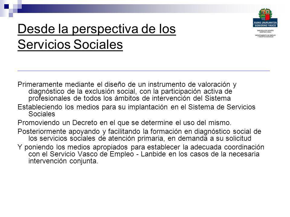 Desde la perspectiva de los Servicios Sociales _______________________________________________________________ Primeramente mediante el diseño de un i