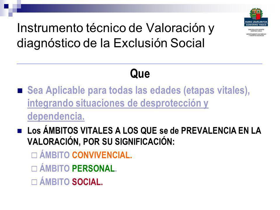 Instrumento técnico de Valoración y diagnóstico de la Exclusión Social ___________________________________________ Que Sea Aplicable para todas las ed