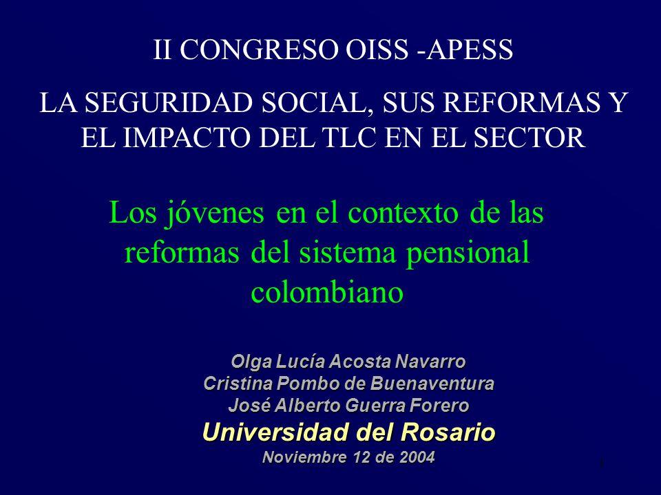 52 La insuficiencia de los aportes para financiar los beneficios se agudizó en Colombia por: No se modificaron parámetros del sistema pensional pese a cambios demográficos.