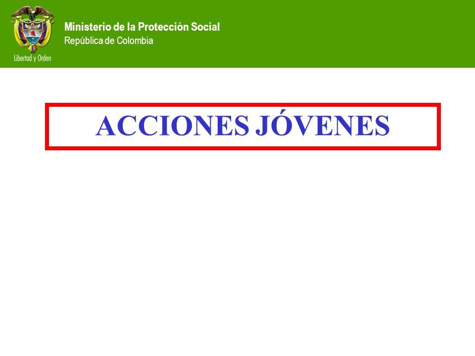 Ministerio de la Protección Social República de Colombia ACCIONES JÓVENES