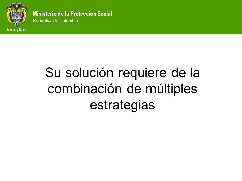 Ministerio de la Protección Social República de Colombia Su solución requiere de la combinación de múltiples estrategias