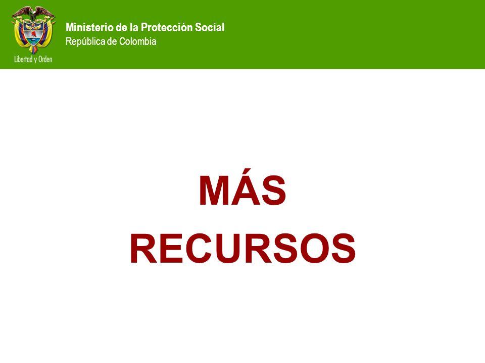 Ministerio de la Protección Social República de Colombia MÁS RECURSOS