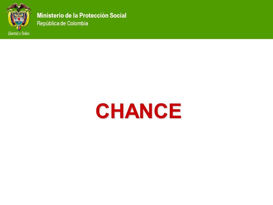 Ministerio de la Protección Social República de Colombia CHANCE