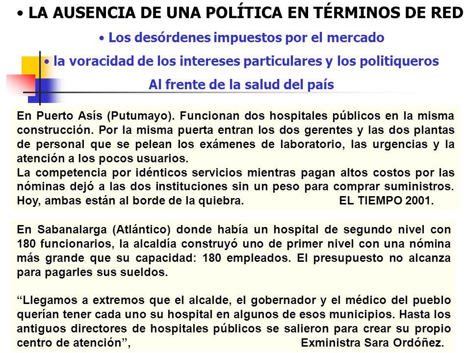 En Puerto Asís (Putumayo). Funcionan dos hospitales públicos en la misma construcción. Por la misma puerta entran los dos gerentes y las dos plantas d