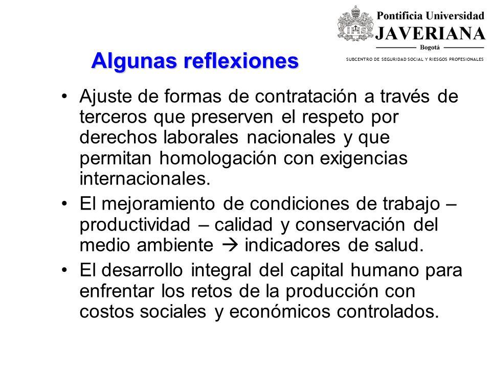 SUBCENTRO DE SEGURIDAD SOCIAL Y RIESGOS PROFESIONALES OBJETIVO DE LA MESA DE ASUNTOS LABORALES Impedir que se promueva el comercio o la inversión medi