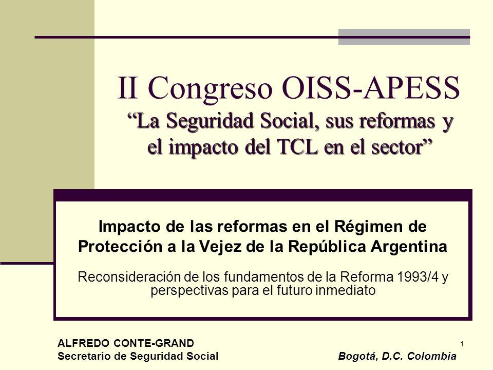 1 La Seguridad Social, sus reformas y el impacto del TCL en el sector II Congreso OISS-APESS La Seguridad Social, sus reformas y el impacto del TCL en