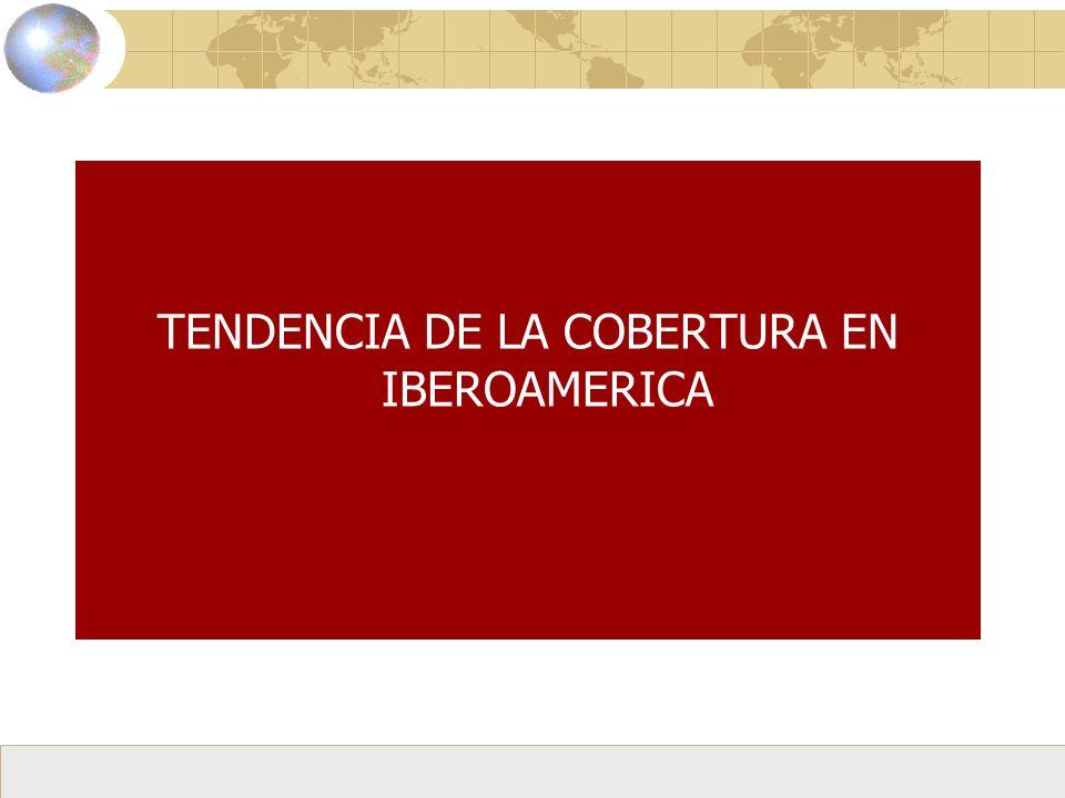 TENDENCIA DE LA COBERTURA EN IBEROAMERICA