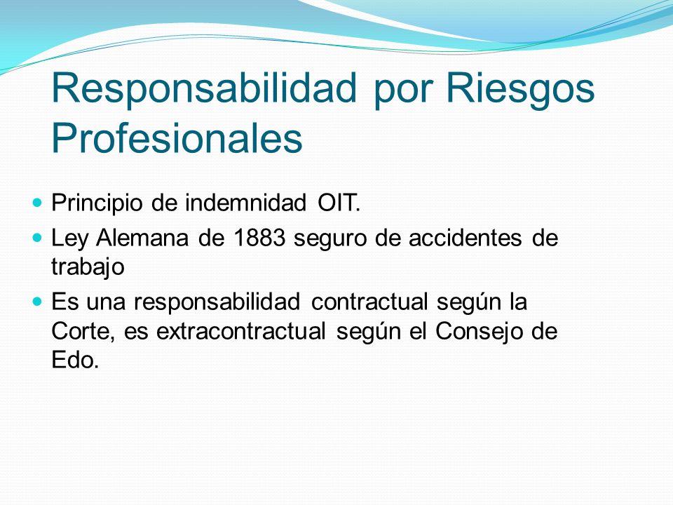 Responsabilidad por Riesgos Profesionales Principio de indemnidad OIT.