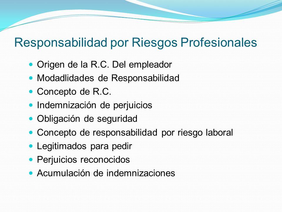 Responsabilidad por Riesgos Profesionales Origen de la R.C.