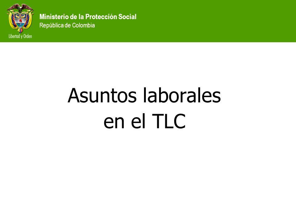 Ministerio de la Protección Social República de Colombia Asuntos laborales en el TLC