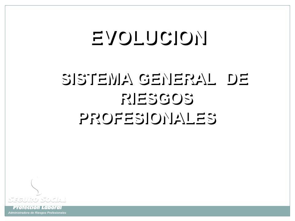 SISTEMA GENERAL DE RIESGOS PROFESIONALES SISTEMA GENERAL DE RIESGOS PROFESIONALES EVOLUCION