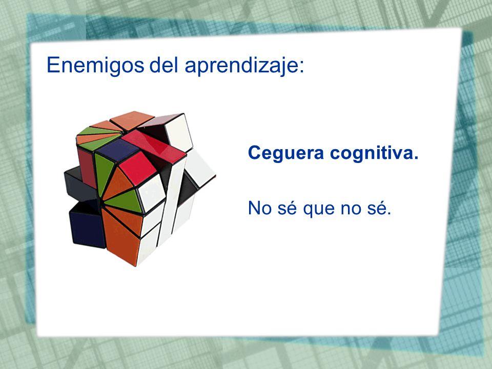 Enemigos del aprendizaje: Ceguera cognitiva. No sé que no sé.