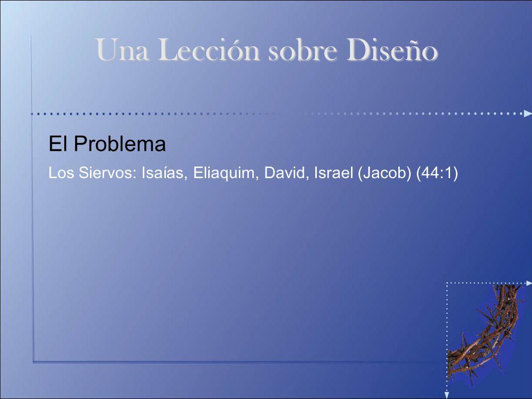 El Problema Los Siervos: Isaías, Eliaquim, David, Israel (Jacob) (44:1) Una Lección sobre Diseño