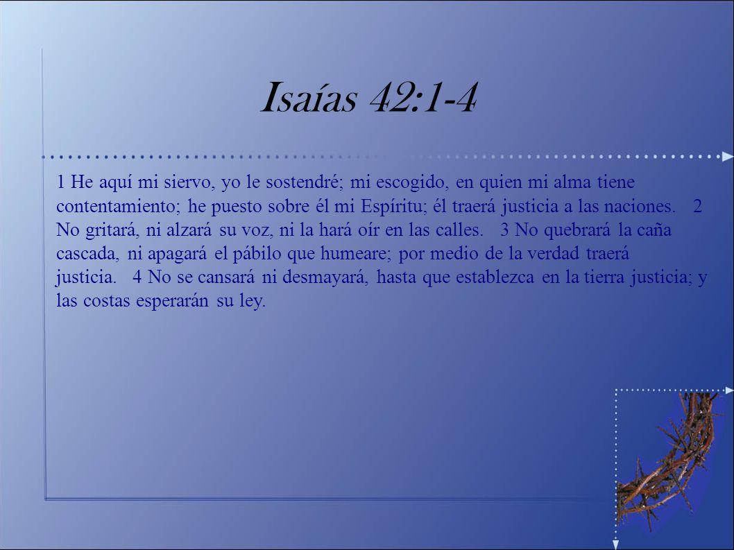 El Pasaje Una Lección sobre Desánimo Dios habla sobre Su Siervo (vv 1-4)