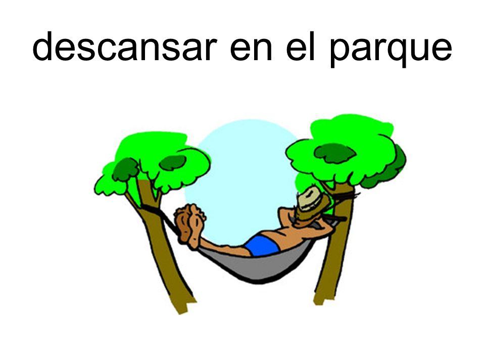 descansar en el parque