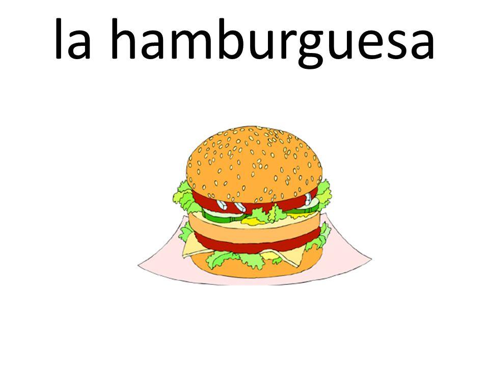 la hamburguesa