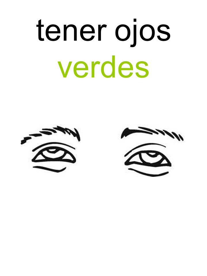 tener ojos verdes