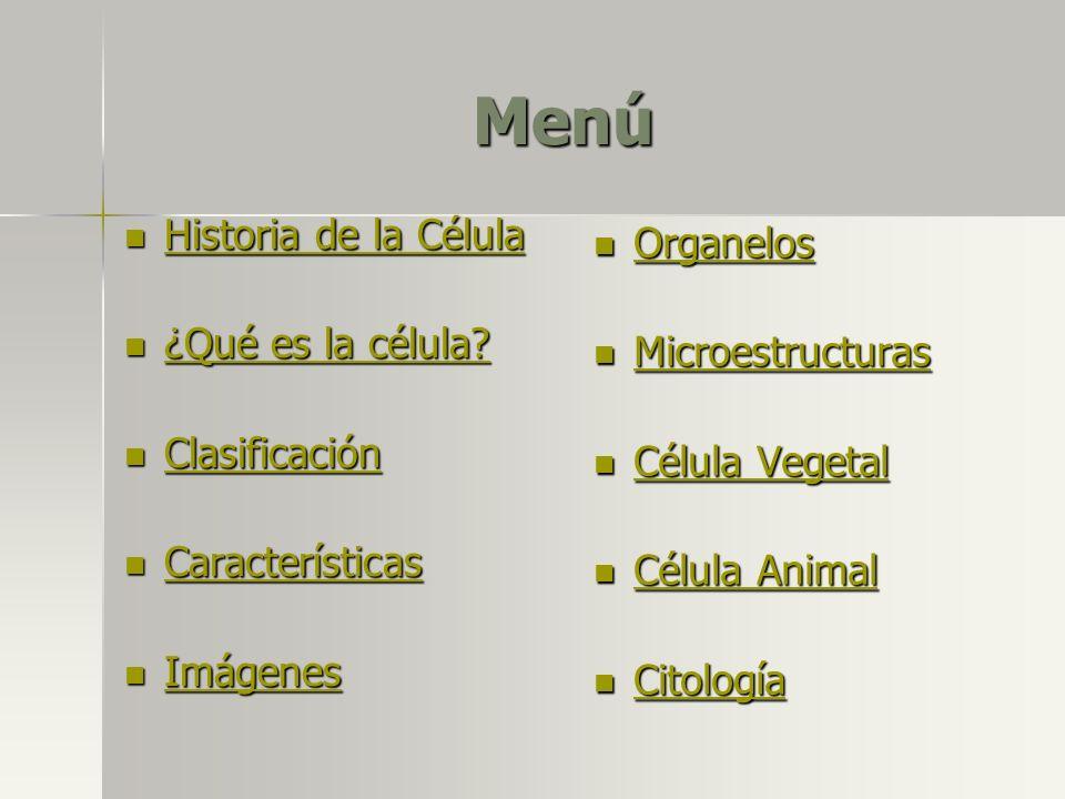 Tipos de Vacuola Digestiva: Lisosoma + Vacuola = Vacuola Alimenticia Digestiva Lisosoma Vacuola alimenticia Vacuola Digestiva Menú TiposTipos Célula VegetalCélula Animal