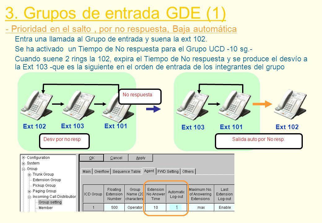 NEF GDE Q-3 Q-2 - Destinos del Desbordamiento \ Redirección Manual \ No respuesta 3.