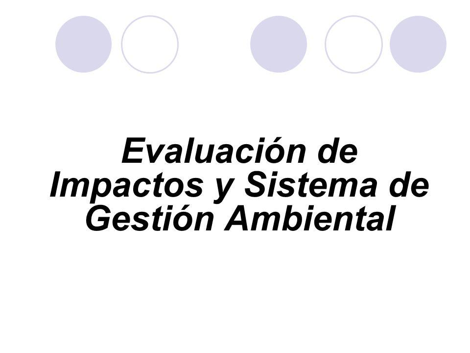 Evaluación de Impactos y Sistema de Gestión Ambiental