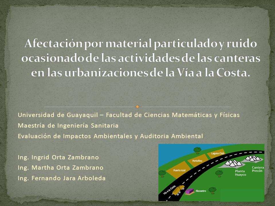 Problemas medioambientales generados por la extracción : Contaminación por polvo (sobre todo si poseen procesos de trituración) Contaminación por ruido.