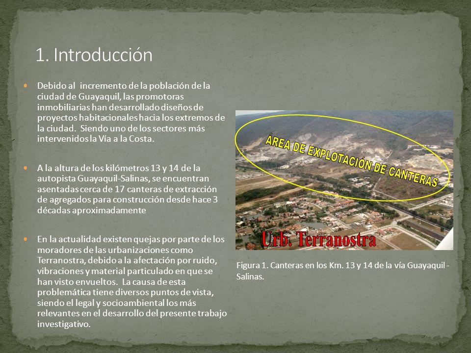 Desde el punto de vista legal, podemos indicar las siguientes falencias del sistema legislativo de la ciudad y del país, entorno a esta problemática: La reciente promulgación en el año 2000 de la ordenanza del Plan Regulador de Desarrollo Urbano de la Ciudad de Guayaquil, donde se establecen los usos de suelos de la ciudad.