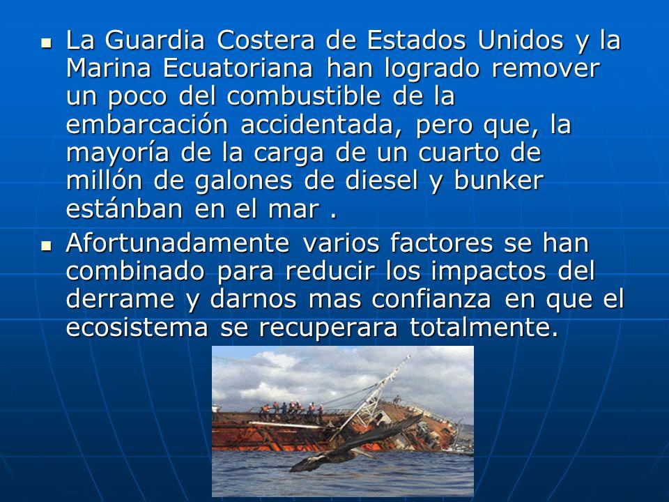 DERRAME DE COMBUSTIBLE EN GALAPAGOS – UNA APRECIACIÓN PRELIMINAR DEL IMPACTO AL ECOSISTEMA (mañana del martes 23 de enero del 2001) Por la Fundación C