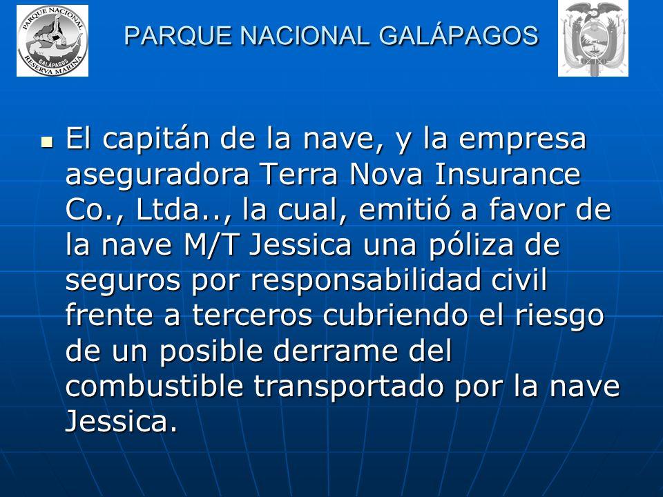 PARQUE NACIONAL GALÁPAGOS En atención a lo ocurrido y para precautelar los intereses de la provincia, el Parque nacional Galápagos a presentado una de