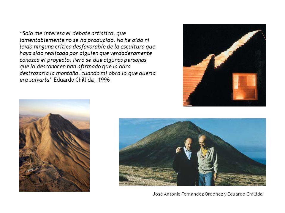 José Antonio Fernández Ordóñez y Eduardo Chillida Sólo me interesa el debate artístico, que lamentablemente no se ha producido. No he oido ni leido ni