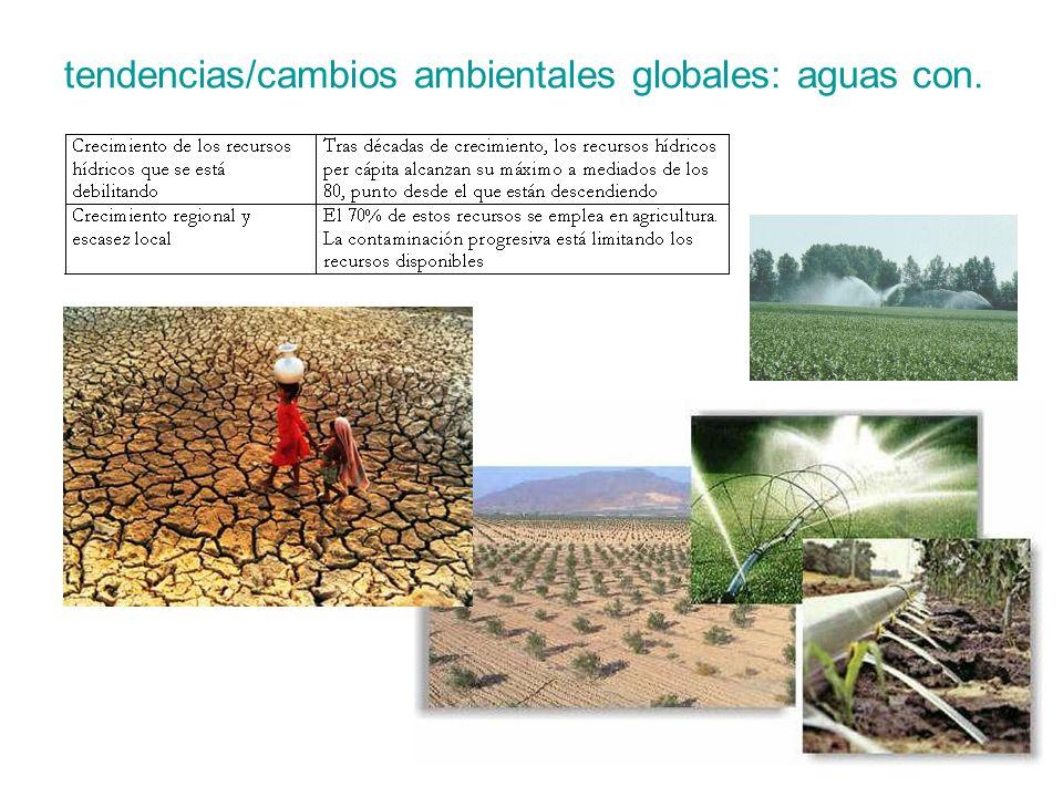 tendencias/cambios ambientales globales: aguas con.