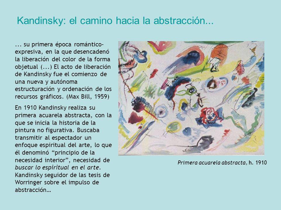 Kandinsky: el camino hacia la abstracción...... su primera época romántico- expresiva, en la que desencadenó la liberación del color de la forma objet